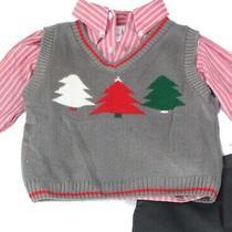Hudson Ferrel Boys' Sweater Vest Gray Size 7 Pine Tree Ribbed v-Neck 44- 896 Photo