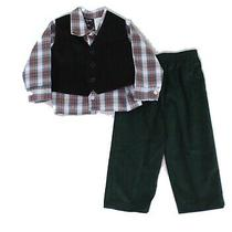 Hudson Ferrell Baby Boys Outfits Green Size 12 Months 3-Piece Plaid 34 447 Photo