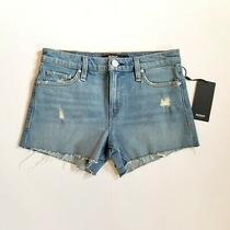 Hudson Gemma Mid Rise Cut Off Denim Jean Shorts Womens Size 24 Photo