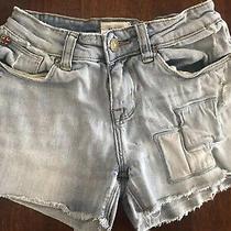 Hudson Girl's Light Blue Frayed Denim Shorts  Size 12  Vguc Photo