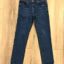 Hudson Girls 10 Lian Skinny Jeans Dark Wash Stretch Blue Denim Pockets Photo