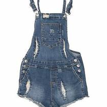 Hudson Girls Blue Overall Shorts L Youth Photo