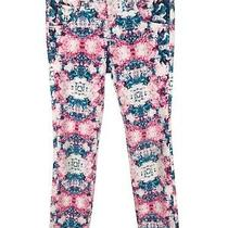 Hudson Girls Jeans Skinny Leg Sz 14 Pink White Blue Wild Print Photo