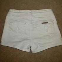 Hudson Girls White Denim Shorts Youth Girls Sz 10   Photo