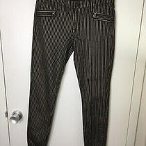 Hudson Jeans Black and Gold Stripe Size 29 Made in the Usa Spark Super Skinny Photo