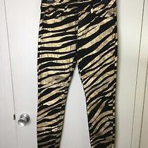 Hudson Jeans Black Gold Zebra Size 29 Nico Midrise Super Skinny Made in Usa  Photo