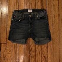 Hudson Jeans Denim Cutoff Shorts Size 27 Made in Mexico Medium Wash Photo