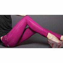 Hudson Jeans 'Krista' Super Skinny Jeans Color Hot Shot Wax Pink Purple  Photo