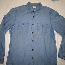 Hudson Jeans Modern Denim Shirt Size Large Photo