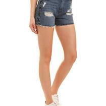 Hudson Jeans Sade Topaz Lace-Up Short Women's Blue 27 Photo