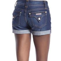 Hudson Jeans Signature Cuffed Raw Hem Denim Shorts Size 25 Photo