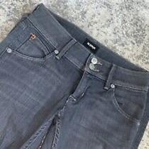 Hudson Jeans Size 24 Jeans Collin Flap Style Gray Photo