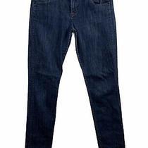 Hudson Jeans Straight Leg Mid Rise Womens Size 29 Dark Blue Wash Stretch Denim Photo