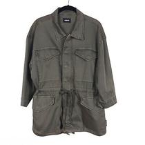 Hudson Jeans Women's Green Rustic Peridot Sienna Anorak Utility Jacket Size M Photo