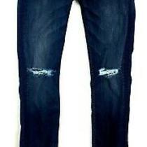 Hudson Jeans Womens Sz 25 Super Skinny Destroyed Stretch Dark Wash Photo