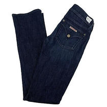 Hudson Jeans Womens Size 26 Beth Baby Bootcut Blue Dark Wash Flap Pockets 26x34 Photo