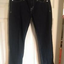 Hudson Jeans Womens Size 26 Navy Blue White Seams Photo