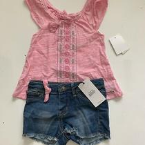 Hudson Kids 2 Pc Embroidered Boho Top and Denim Shorts Sz 2t B-2 Photo