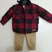 Hudson Kids Outfit 3 Piece Set Button Front Jacket Tshirt Pull on Tie Waist Photo