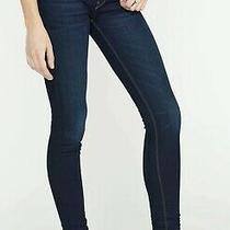 Hudson Krista Ankle Super Skinny Stretch Dark Blue Alga Wash Jeans Size 30 X 28 Photo
