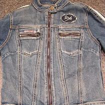 Hudson Ladies Distressed Designer Denim Jean Jacket Rare Design  Photo
