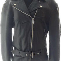 Hudson Leather Women's Black Motorcycle Jacket 3xl Photo