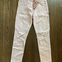 Hudson Light Pink Distressed Skinny Jeans Size 25 Photo