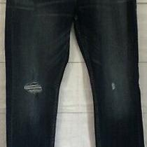 Hudson Los Angeles Jeans 36 Blake Slim Straight Colordark Blue Distressed New  Photo