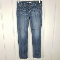 Hudson Low Rise Slim Straight Jeans Blue Women Size 28 X 31 Stretch Distressed Photo