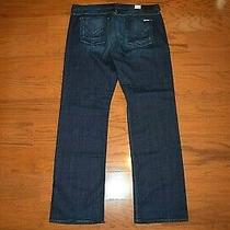 Hudson - Made Usa - 'Clifton' Boot Cut Stretch Blue Jeans - Men Size 38 X 36 Photo