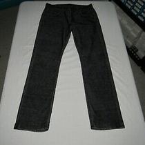 Hudson Men's Byron Straight Black Corduroy Pants Size Waist 31