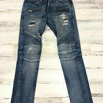 Hudson Mens 30 Byron Five Pocket Straight Leg Dark Wash Blue Jeans  Photo