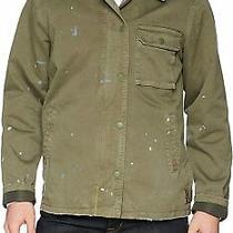 Hudson Mens Jacket Green Size Large L Full-Zip Button Snap Paint 194 542 Photo