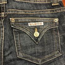 Hudson Midrise Flare Dark Blue Wash Jeans Size 27 Short Photo