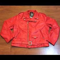 Hudson Motorcycle Jacket in Red Photo