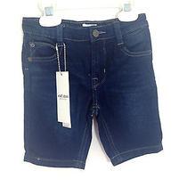 Hudson New Girls Knit Jean Bermuda Freezer Blue Jeans Pocket Shorts 24m Nwt Photo
