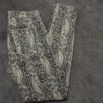 Hudson Nico Super Skinny Coated Wax Viper Snake Print Stretch Jegging Jean Sz 31 Photo
