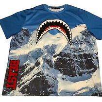 Hudson Outerwear Beast Shark Mouth Baseball Jersey Shirt Men's Sz 4xl Mountains Photo