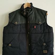 Hudson Outerwear Boys Cotton Denim Black Vest Size Youth 16 Nwt  Photo