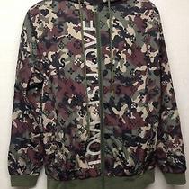 Hudson Outerwear Hoodie Full Zip Camouflage Windbreaker Jacket Size L         Q1 Photo