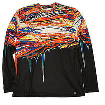 Hudson Outerwear Long Sleeved Paint Drip Polyester Shirt Sz Large Photo