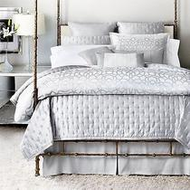 Hudson Park Luxe Modern Lace King Bedskirt Photo