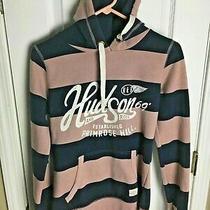 Hudson & Rose Hoodie Size Us 4 Uk 8 Sweatshirt Striped Photo