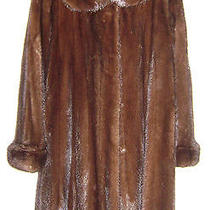 Hudsons Fur Mahogany Mink Coat Size M Photo