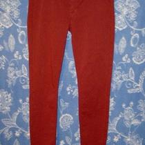 Hudson Sexy Auburn Red Midrise Super Skinny Soft Stretch Denim Pant Jeans Nwt 24 Photo
