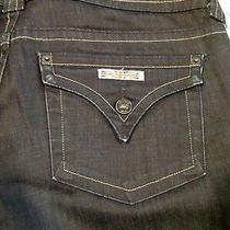 Hudson Signature Boot Cut Denim Jeans Sz 31 Inseam 32 Flap Pockets Excellent Photo