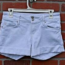 Hudson Size 26 Croxley Short White Cuffed Denim Jean Shorts Mid Thigh....a012 Photo