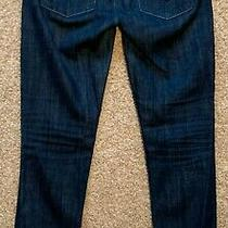Hudson Skinny Jeans Flap Pocket Dark Blue Denim Pants - Women 28 Photo