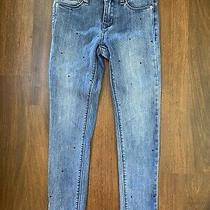 Hudson Skinny Jeans With Black Small Rhinestones on Front girls.size 10 Photo