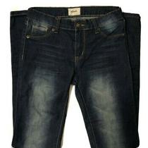 Hudson Skinny Stretch Dark Blue Beige Wash Jeans Size 24  Photo